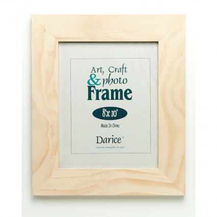 "Darice 8""x10"" Unfinished Wood Frame"