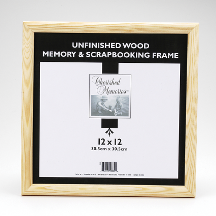 "Darice 12""x12"" Unfinished Memory Wood Frame"