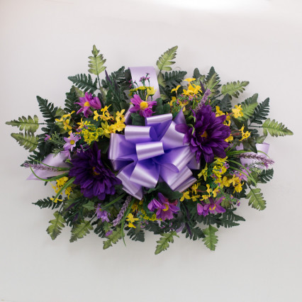 Cemetery Saddle - Purple & Yellow