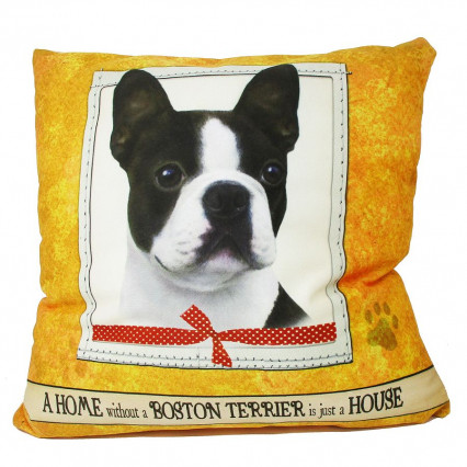 Home Boston Terrier Accent Throw Pillow