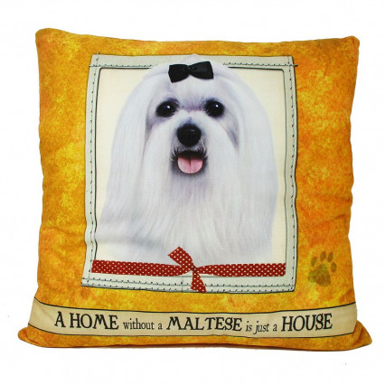 Home Maltese Accent Throw Pillow