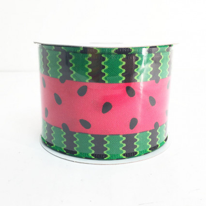 "2.5"" x 10Y Watermelon Seeds Ribbon"