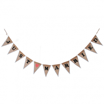 Darice Just Married Burlap Wedding Garland