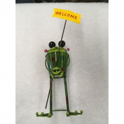 Welcome Frog Garden Decor