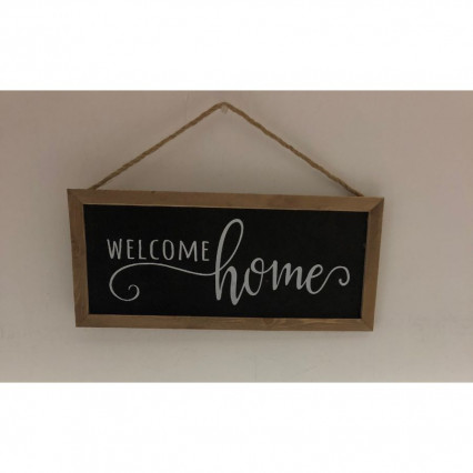 Welcome Home Sign - Black