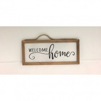 Welcome Home Sign - White