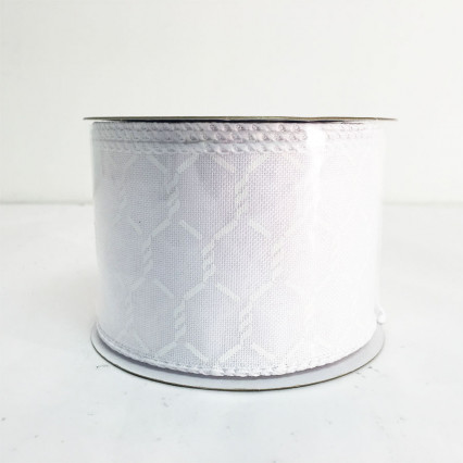 "2.5"" x 10Y White Linen Chicken Wire"