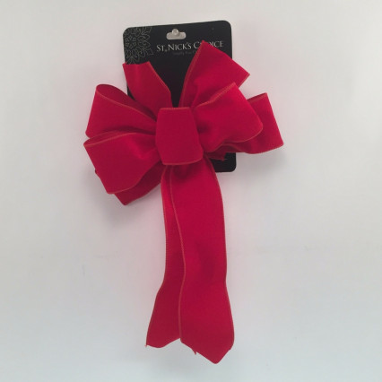 St. Nick's Choice Red Velvet Wired Christmas Bow
