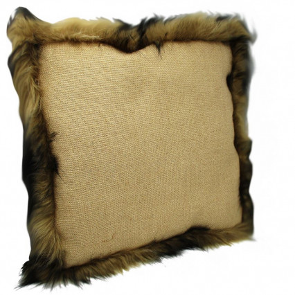 Faux Fur Accent Throw Pillow