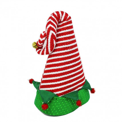 Elf Christmas Red Stripe Hat Decor