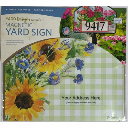 Yard Design - Sunflowers on Gingham