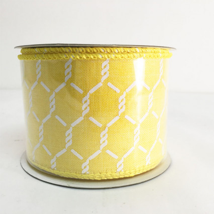 "2.5"" x 10Y Yellow Linen Chicken Wire"