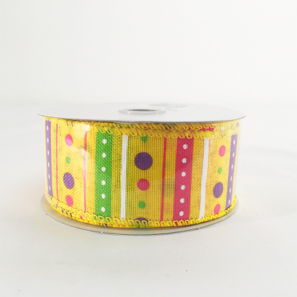 Jascotina 1.5 x 10yds Yellow Decorative Ribbon