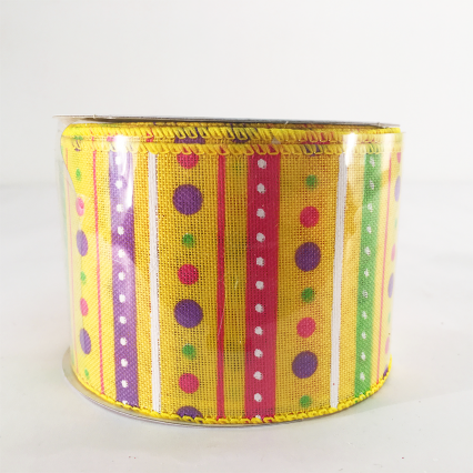 Jascotina 2.5 x 10yds Yellow Decorative Ribbon