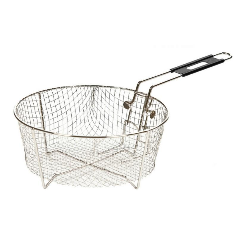 Lodge 10FB2 10.5 inch Deep Fry Basket with Folding Handle