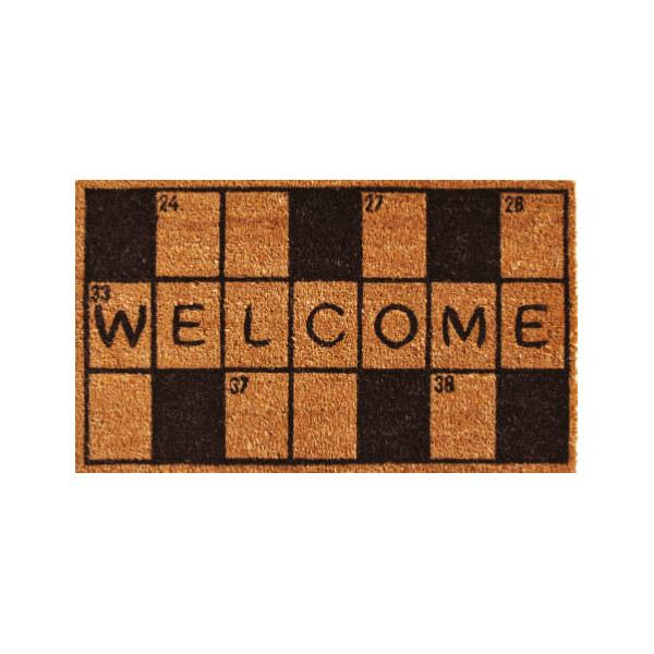 Crossword Welcome Doormat