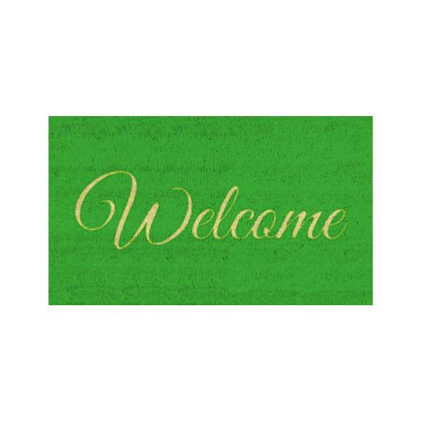 Green Welcome Doormat