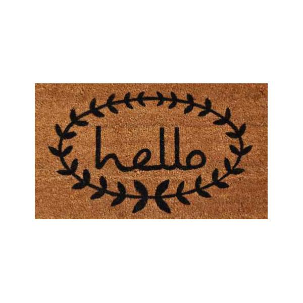 Calico Hello Doormat - 2' x 3'