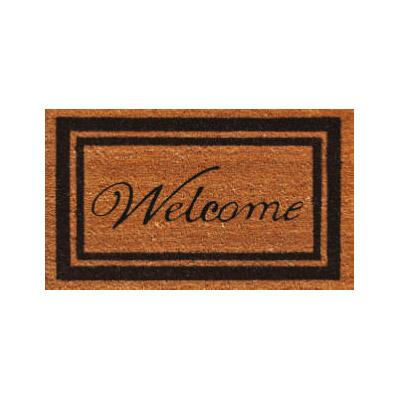 Black Border Welcome Doormat - 2' x 3'