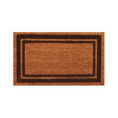 Brown Border Doormat