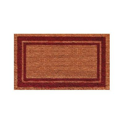 Burgundy Border Doormat