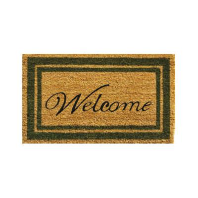 Sage Border Welcome Doormat