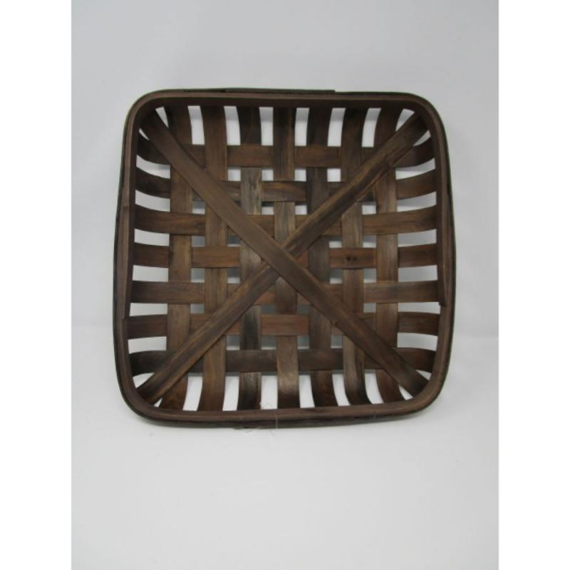 "Tobacco Basket - 15"" Square Dark Brown"