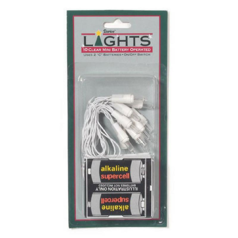 Mini Battery Operated Clear Lights White