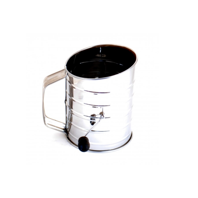 NorPro 136 Stainless Steel 3 Cup Rotary Sifter