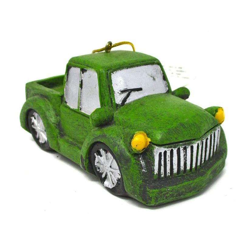 Green Vintage Truck Christmas Ornament