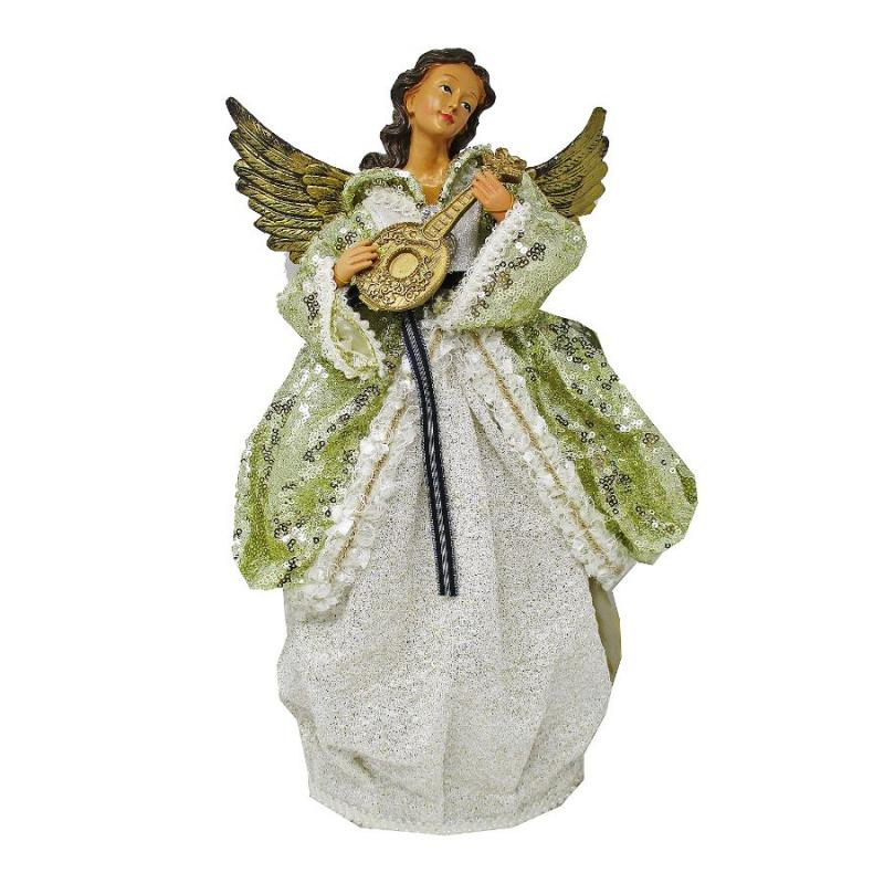 "17"" Christmas Angel Playing Musical Instrument"