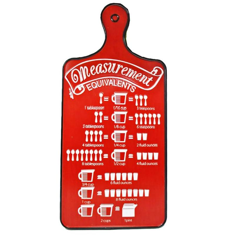 Measurement Chart Metal Hanging Sign