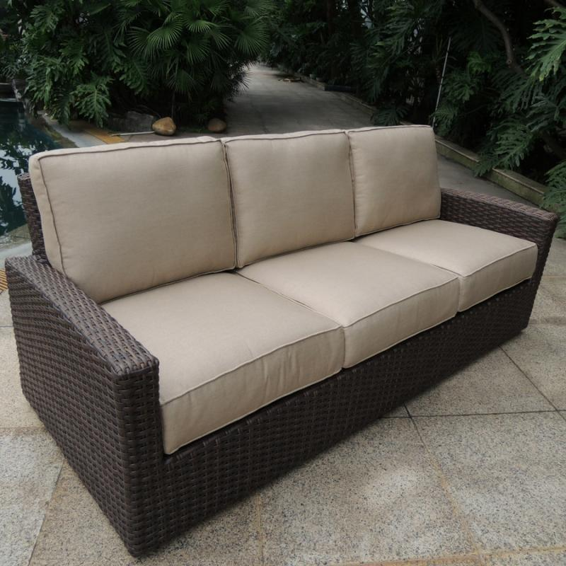 Biscayne 3-Seater Sofa - Rosewood
