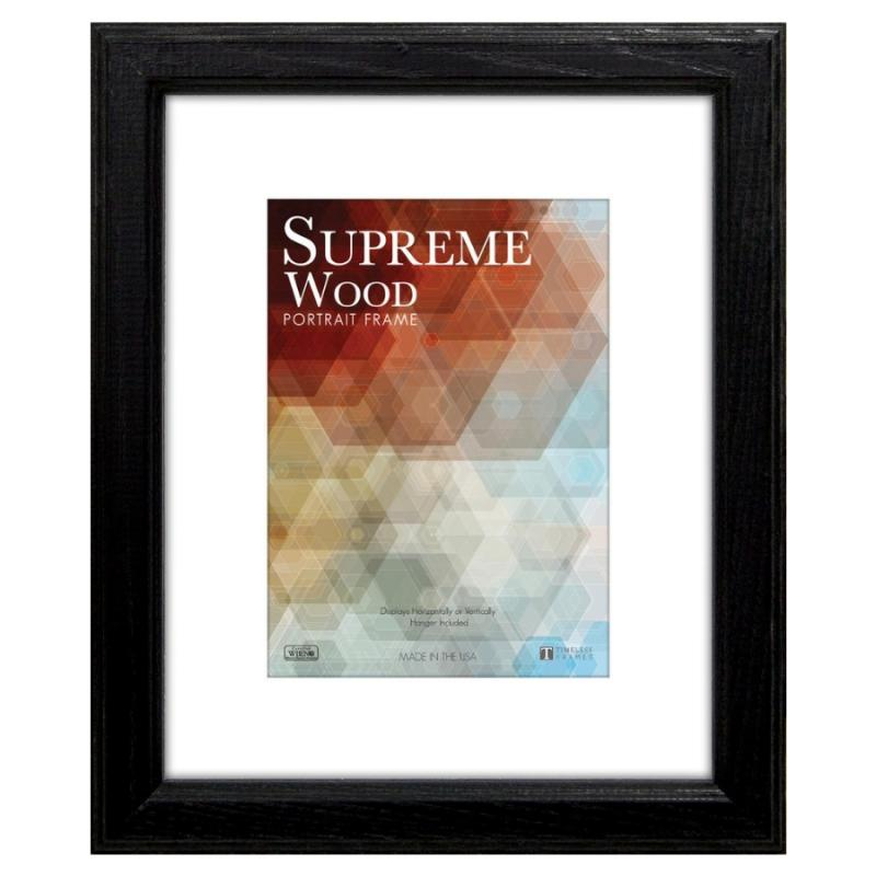 Supreme Wood Portrait Frame 11x14 Black Home Décor