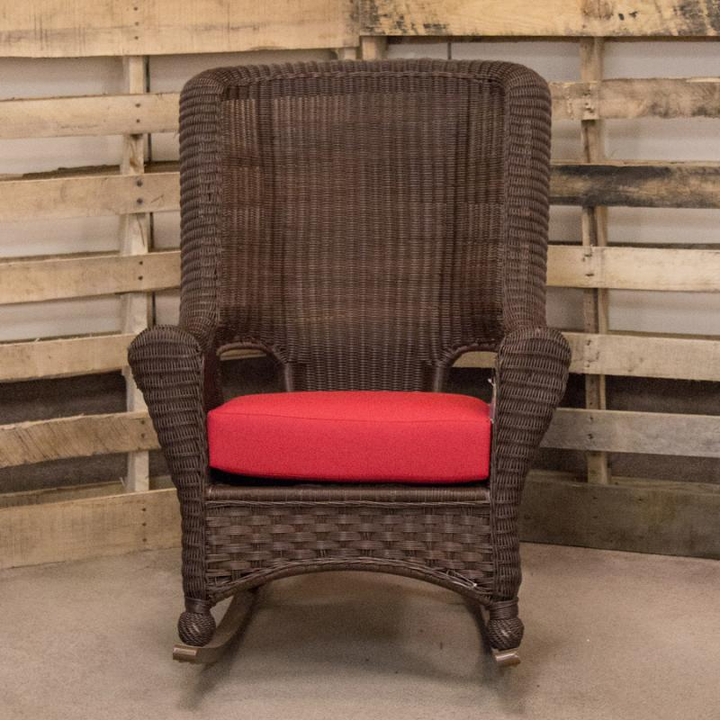 Carolina Hickory High-Back Rocker by Erwin & Sons