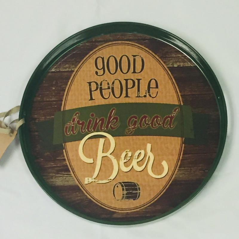 """Good People, Good Beer"" Serving Tray"