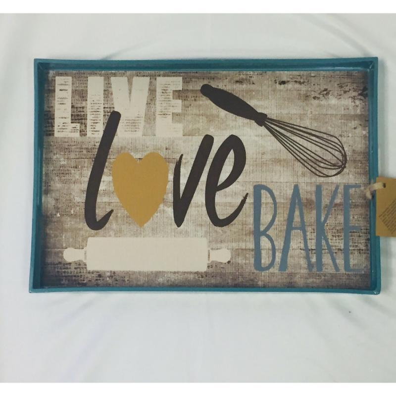 """Live, Love, Bake"" Serving Tray"