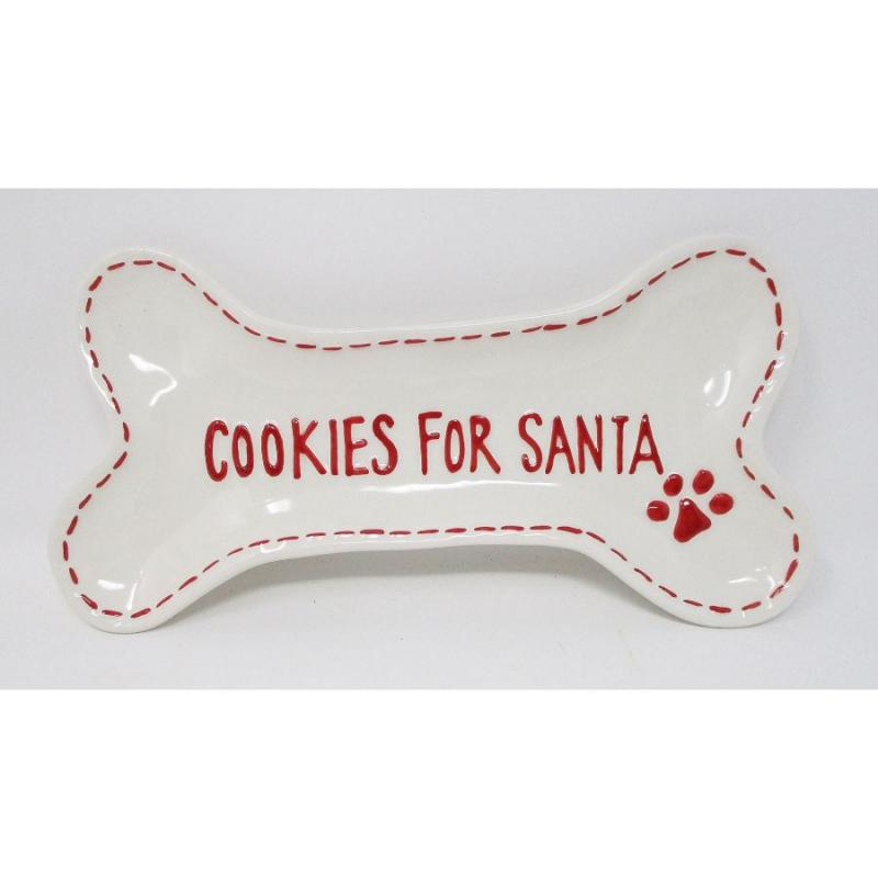 Cookies for Santa Dog Christmas Plate