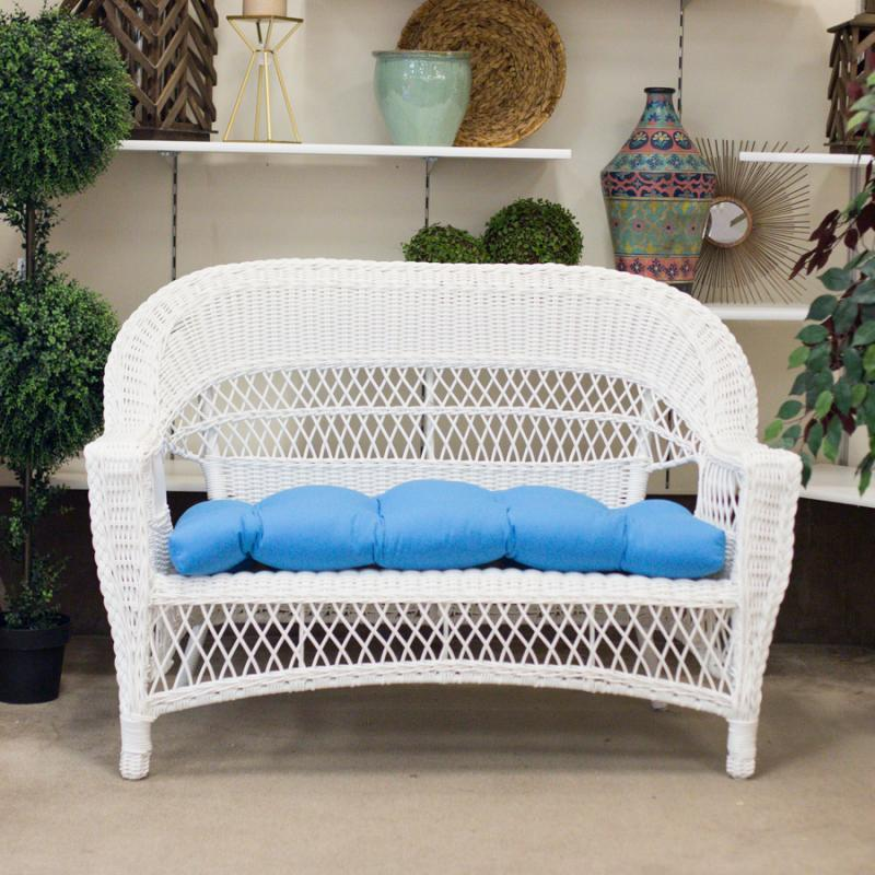Aruba White Loveseat by Erwin & Sons