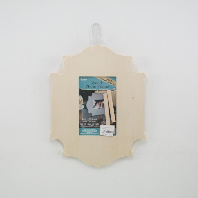 Unfinished Wood Frame- 4x6 | Floral & Ribbon