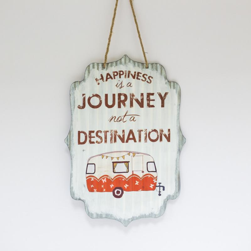 Happiness is a Journey Tin Sign