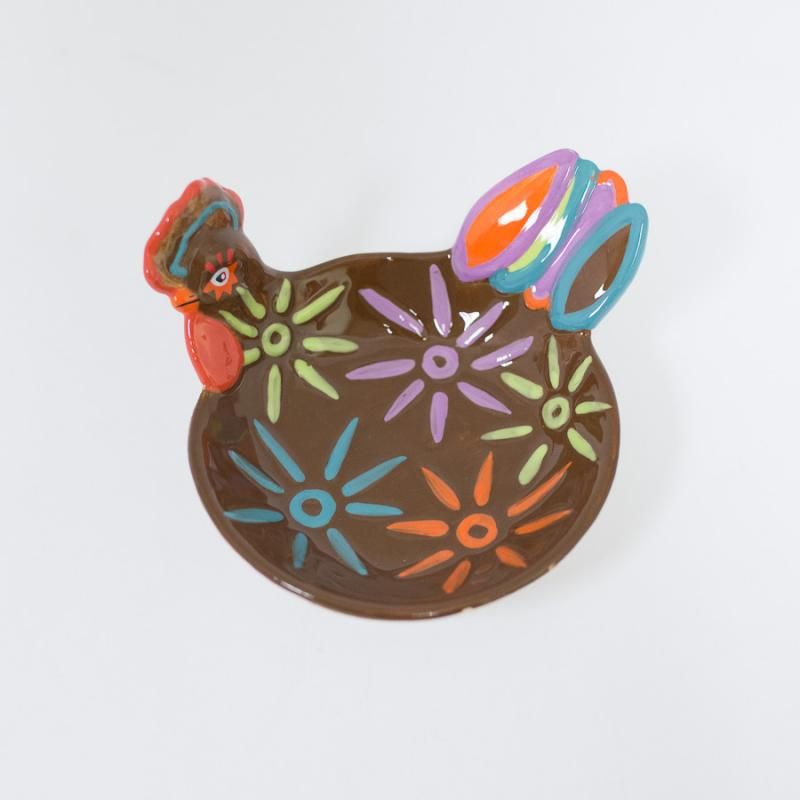 Rooster Appetizer Bowl - Brown