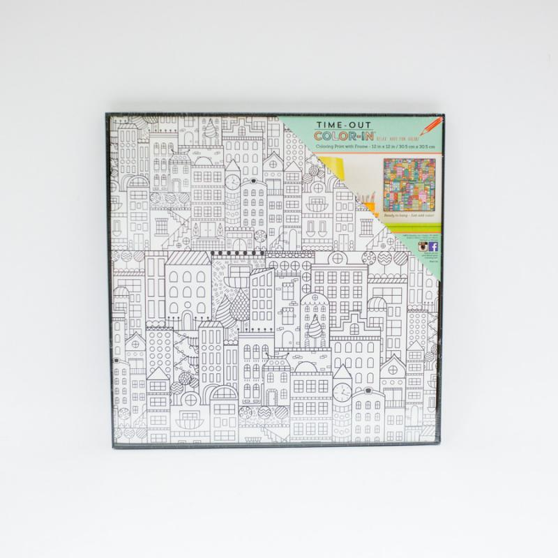 Coloring Print with Frame - City