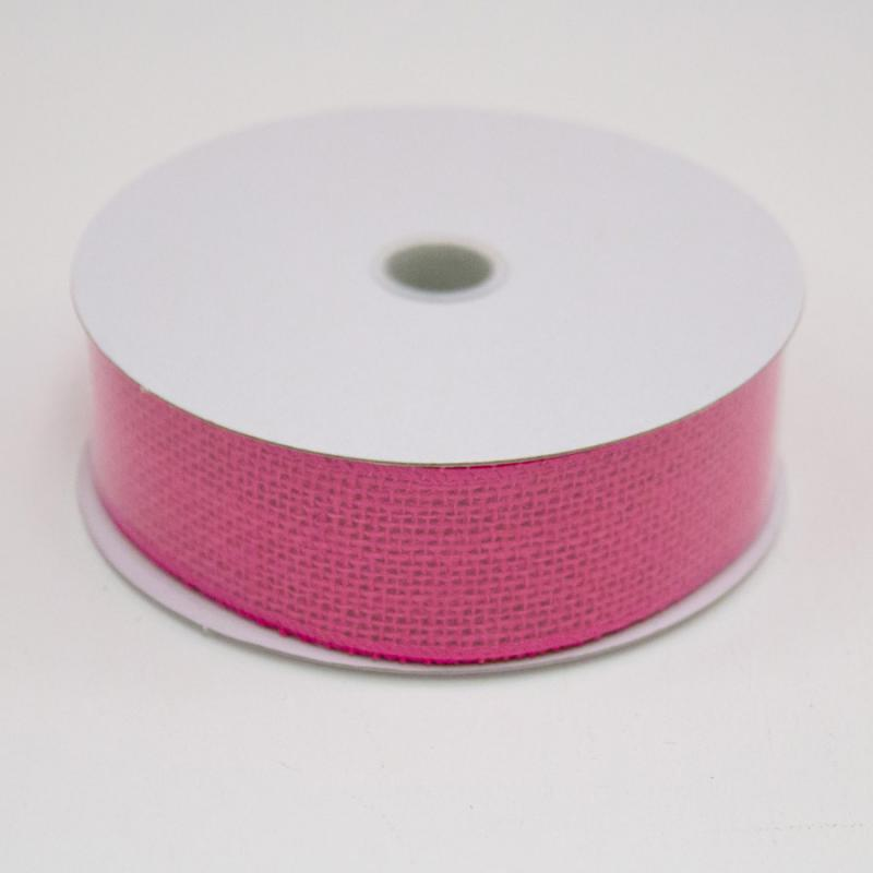 1 1/2 in. (#9) Fuchsia Burlap Ribbon