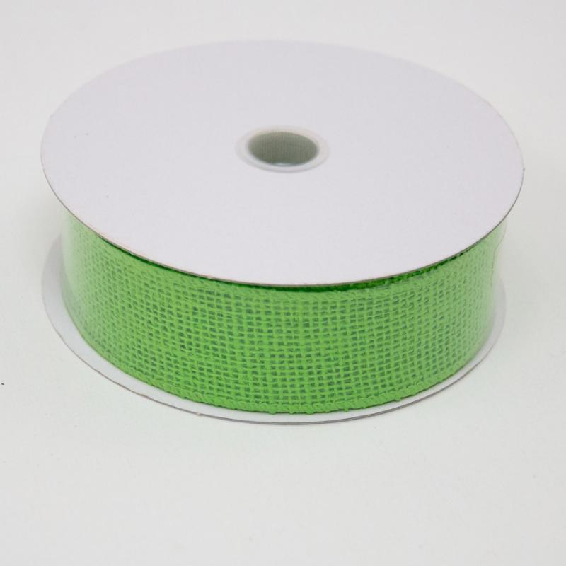 1 1/2 in. (#9) Lime Burlap Ribbon