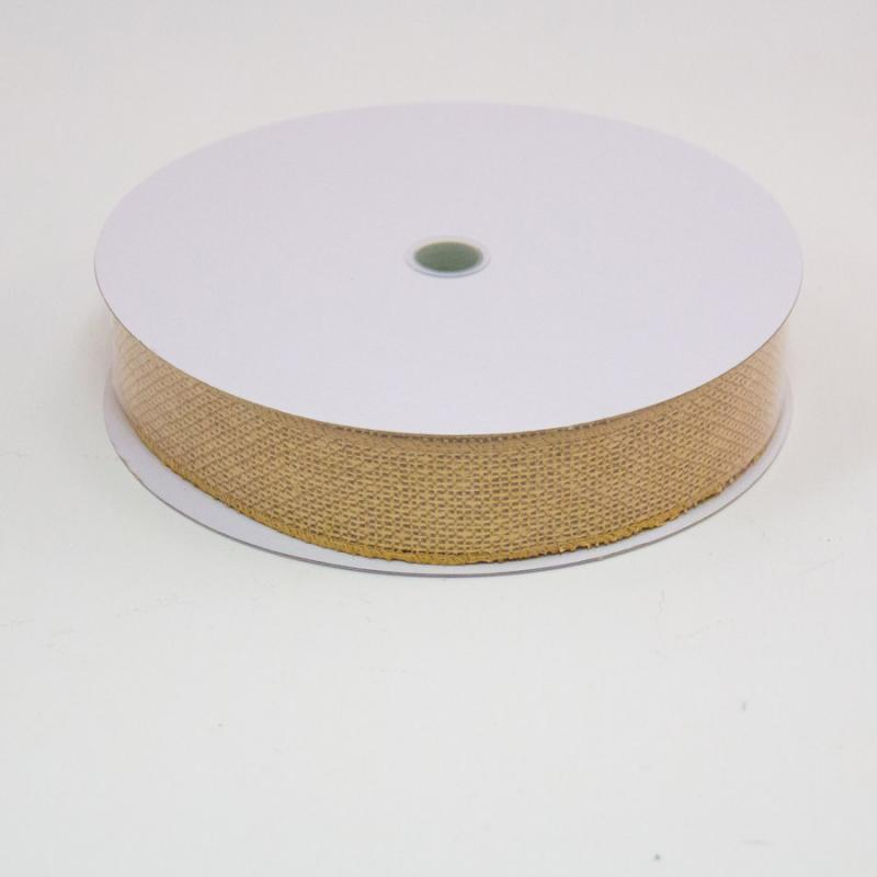 1 1/2 in. (#9) Natural Faux Burlap Ribbon