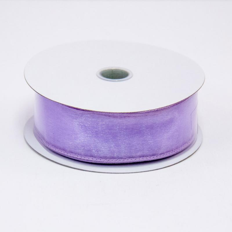 1 1/2 in. (#9) Lavender Wired Edge Sheer Ribbon