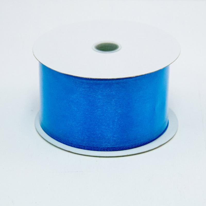 2 1/2 in. (#40) Turquoise Wired Edge Sheer Ribbon