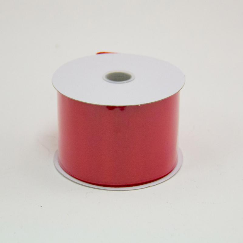 2 1/2 in. (#40) Red Wired Edge Satin Ribbon
