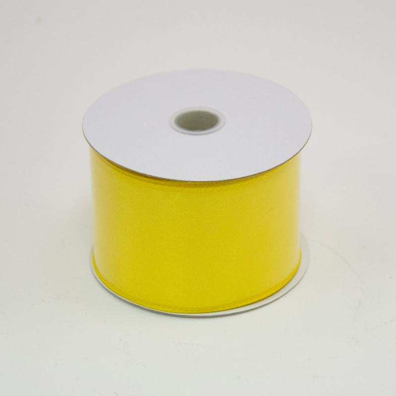 2 1/2 in. (#40) Daffodil Wired Edge Satin Ribbon